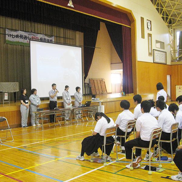 北辰中学校での出張PR