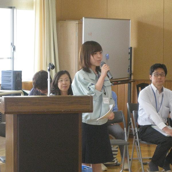 関川中学校での出張PR